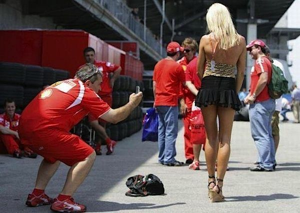 Ferrari girl spyshot | Paddock Girls, Grid Girls & Formula ...