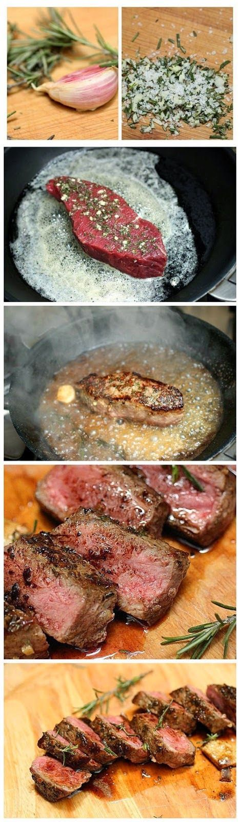 Chef Keso's Rosemary Garlic Butter Steaks