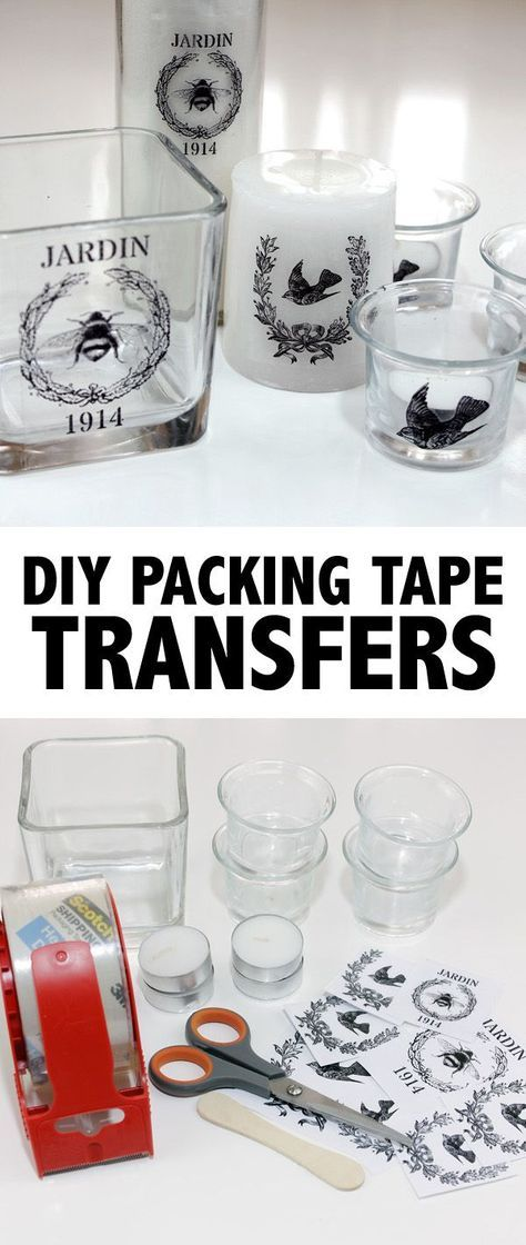 DIY Packing Tape Transfers! This is such a fun Technique for transferring images…