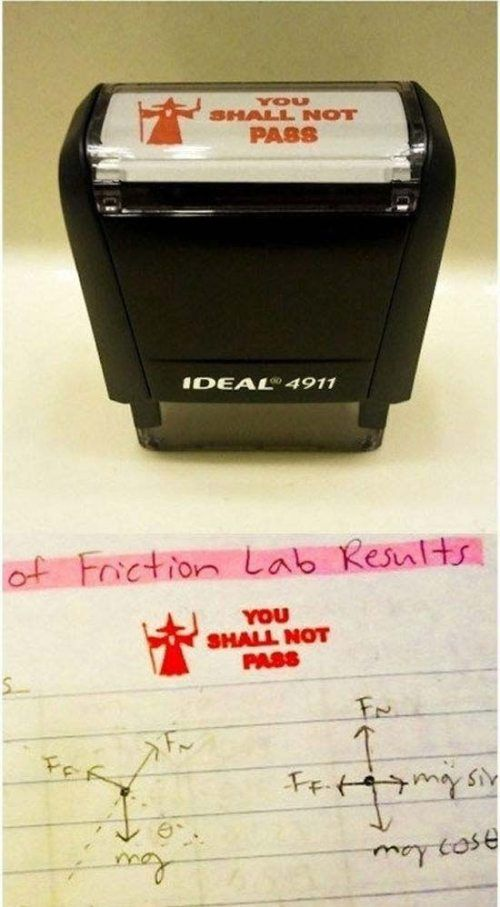 I'd have this if I were a teacher. Totally win (or fail), depending on your interpretation :P