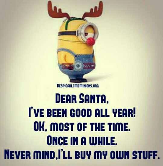 Lol...I'll be buying my own gifts. I've got my list and checking it twice!!!