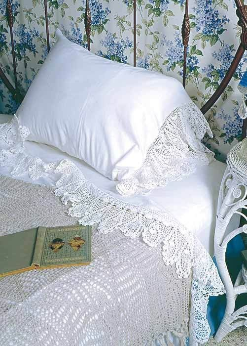 Love these sheets!   Sweetmilk Manor cotton sheets from Victorian Trading Company