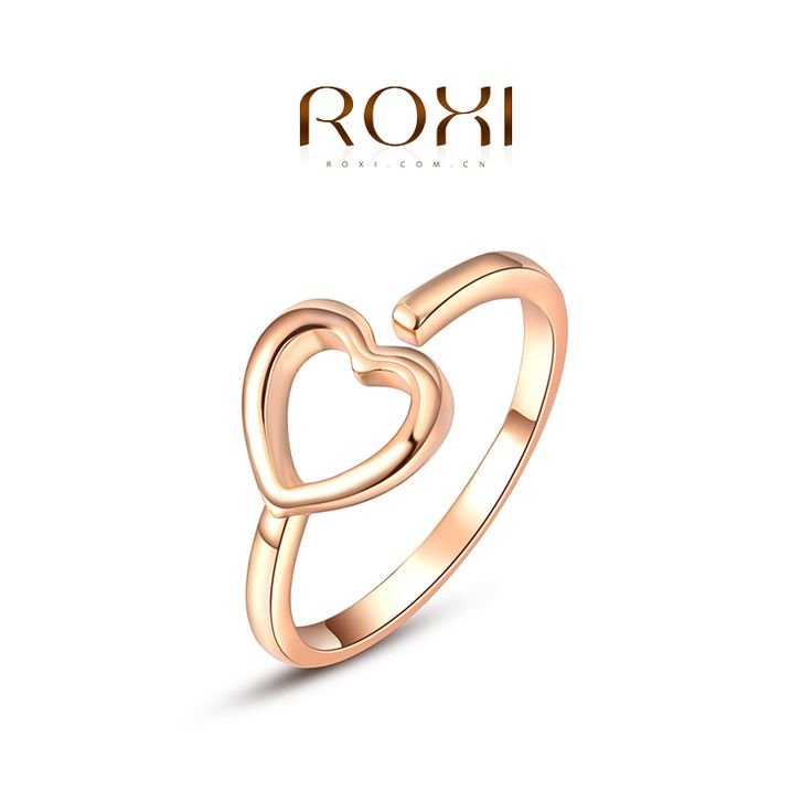 ROXI New Arrivals Rose Gold Plated Heart Ring Statement Rings Fashion Jewelry Gift For Women Party Wedding Free Shippingfrom George Smith Jewelry(ROXI Brand) on Aliexpress.com
