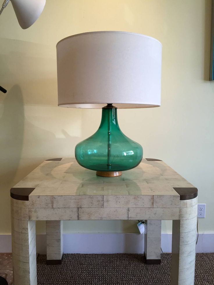 Blenko Glass Emerald Green Table Lamp | From a unique collection of antique and modern table lamps at https://www.1stdibs.com/furniture/lighting/table-lamps/