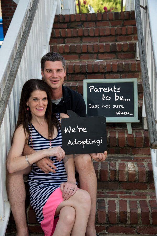 Adoption Announcement Photo!