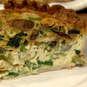 Daphne's Caramelized Onion and Spinach Quiche.The Chew, Caramel Onions, Spinach Quiches, Veggies Friends, Oz Caramel, Daphne Veggies, Daphne Oz, Quiches Recipe, 80S Inspiration