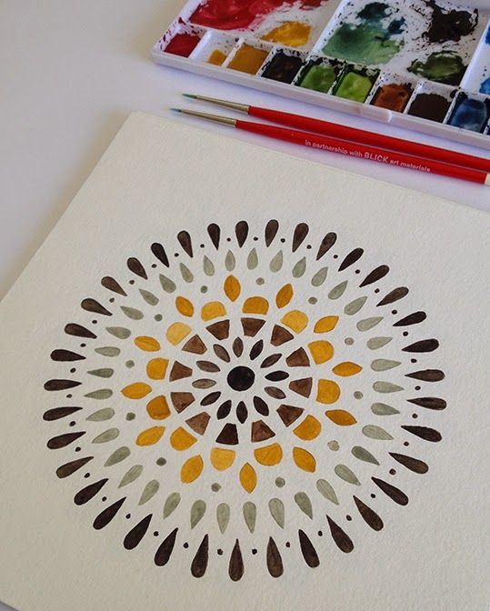 Yellow mandala by Claudia Calderas