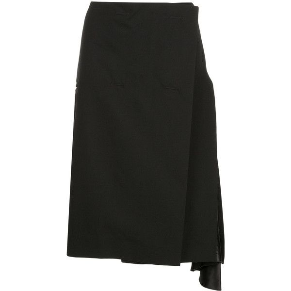 Christopher Esber Tilt Kilt skirt (565 AUD) ❤ liked on Polyvore featuring skirts, black and christopher esber