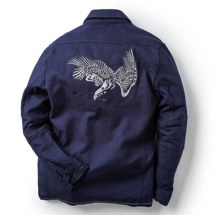 "868 Likes, 17 Comments - @elhaus on Instagram: ""Now Release  Ground Jacket eagle kendo-gi  One sashiko weaving technique gives birth to Kendogi…"""
