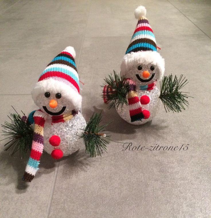 2 LED Schneemann Lichtkugeln Weihnachten Schneeball Licht Farbwechsel Advent Neu  | eBay