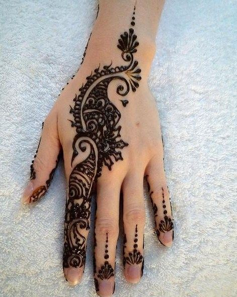 Mehndi Hands Real : New latest mehndi designs for girls and women on chand rat