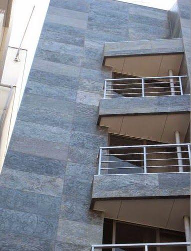 pedra flexível é muito leve e ideal para colocação em fachadas