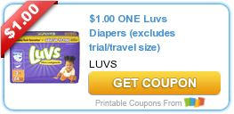 Tri Cities On A Dime: SAVE $1.00 ON LUVS DIAPERS