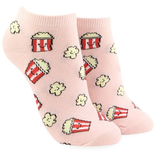 Forever21 Popcorn Ankle Socks ($1.90) ❤ liked on Polyvore featuring intimates, hosiery, socks, ankle socks, forever 21, tennis socks, forever 21 socks and short socks