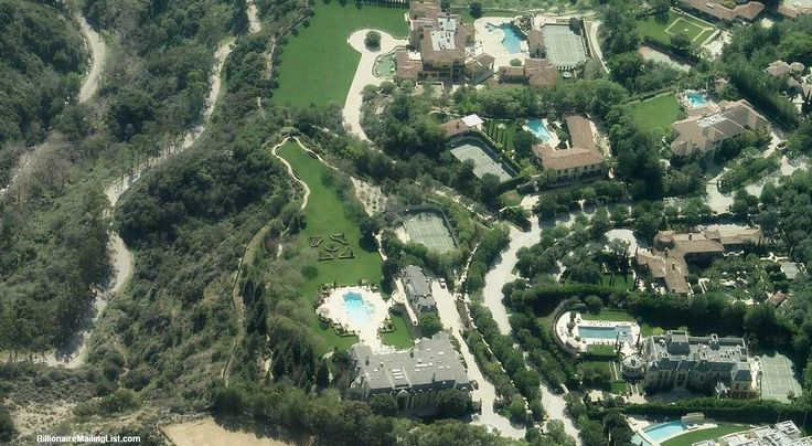 A Billionaire Mansion Down The Hill From Denzels House In Beverly Hills