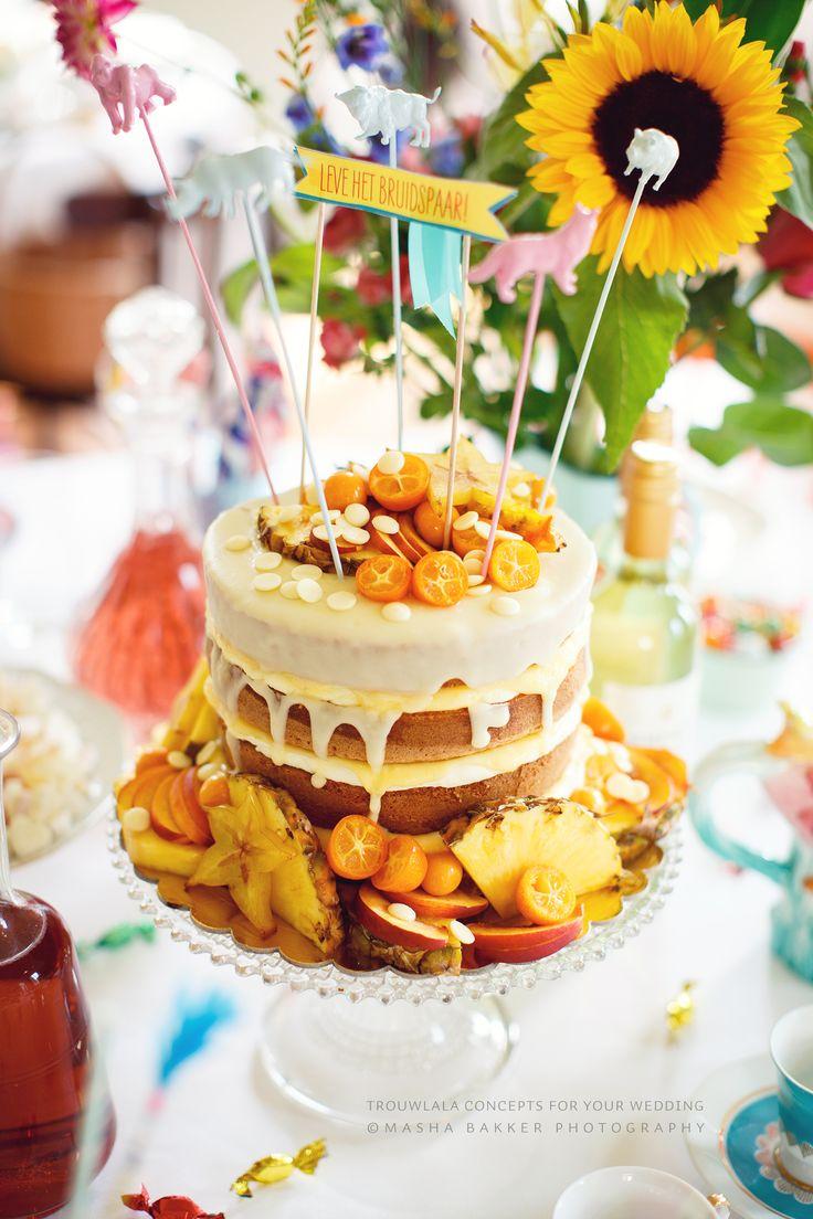 Festival Wedding Cake by Trouwlala Saakje Bakmeisje https://www.facebook.com/saakjebakmeisje