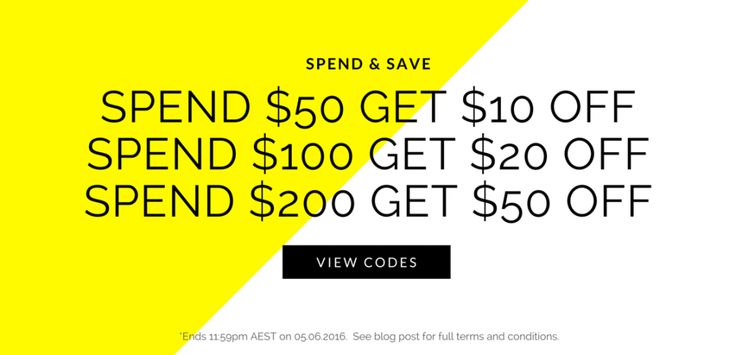Spend & Save Promotion