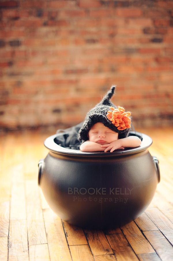 Newborn witch  Brooke Kelly Photography - great idea for an October/Halloween baby!