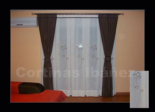 8 best cortinas para sala images on pinterest blinds modern curtains and tejidos - Barras para visillos ...