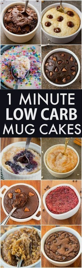 Low Carb Healthy 1 Minute Mug Cakes, Brownies and Muffins (V, GF, Paleo)- Delicious, single-serve desserts and snacks which take less than a minute! Low carb, sugar free and more with OVEN options too! vegan, gluten free, paleo recipe- #mugcake #healthy # paleo dessert single serving