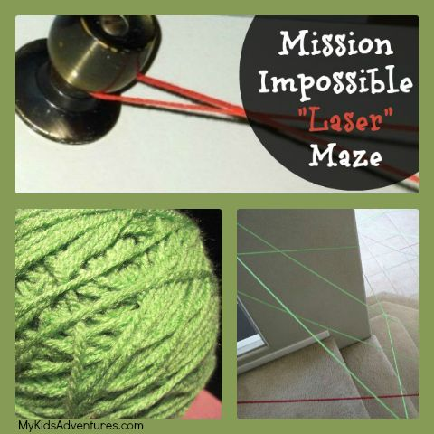 Mission: Fun! Transform simple string into a laser maze obstacle course that will have your spy kids twisting and turning their way to secre...