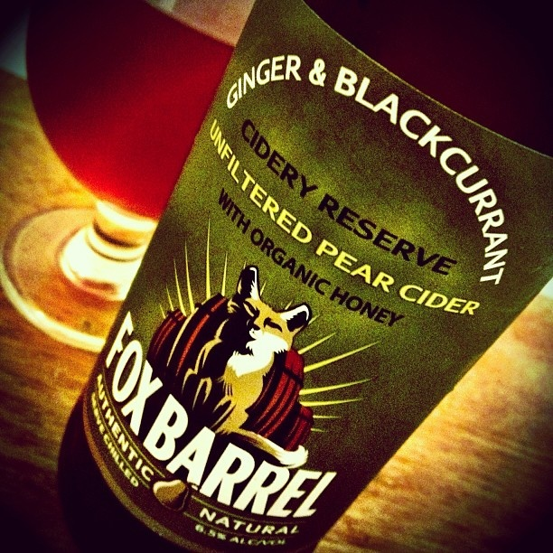 Fox Barrel Ginger & Blackcurrant Cider  -- fruity & crisp w/ a spicy kick   II   @thebeerwench
