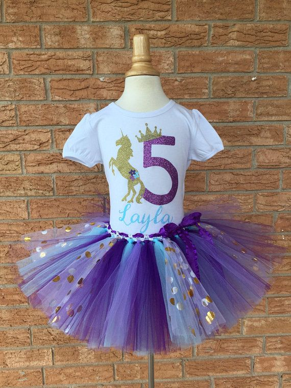 Fifth Birthday Shirt Blue And Purple 5th Outfit Girls Unicorn Party 5 Year Old
