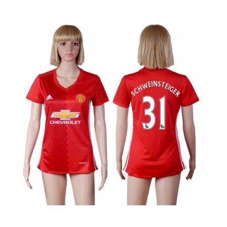 Manchester United Fotbollskläder Kvinnor 16-17 Bastian #Schweinsteiger 31 Hemmatröja Kortärmad,259,28KR,shirtshopservice@gmail.com