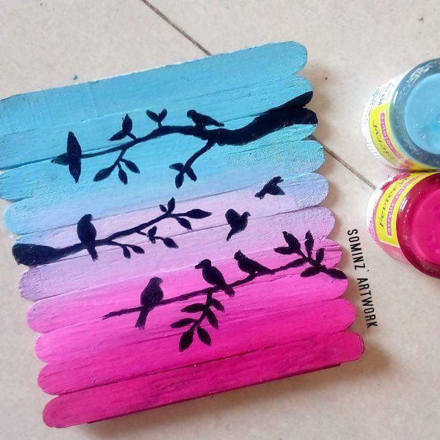 painting on icecream sticks :)