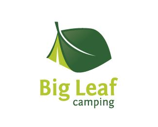Great example of clear communication through branding. Even if you don't notice the tent right away, you see a big leaf. As soon as you notice the tent, you begin to imagine the industry. Text becomes secondary. Good stuff.
