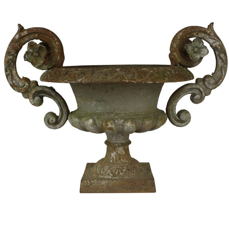 Antique French Cast Iron Planter | From a unique collection of antique and modern urns at https://www.1stdibs.com/furniture/building-garden/urns/