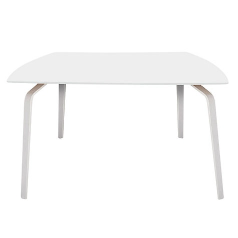 Buy John Lewis Float Table, 6 Seater, White Laminate Top / White Legs Online at johnlewis.com