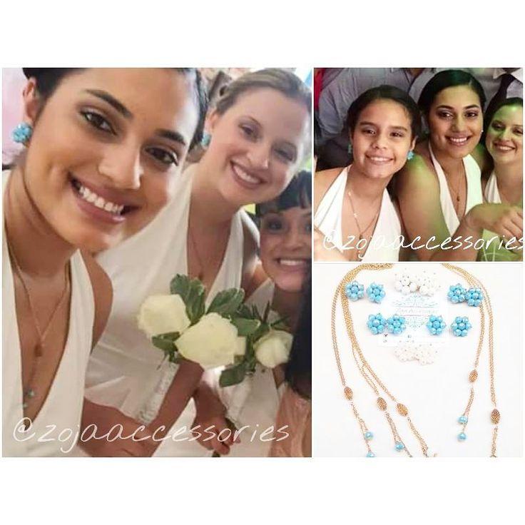 Buen día!! Empezamos este maravilloso sábado, Aquí con las hermosas damas! Luciendo #zojaccessories feliz de complacer a mis clientes y de complementar sus vestuario para un día tan especial! <3 #zojaearrings #blue #tiffany #brideshower #damas #wedding #instafashion #instablogger #women #zojastudio #SantoDomingo