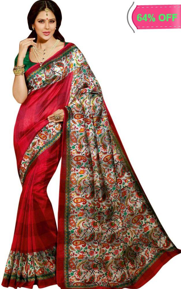 Ishin Printed Bhagalpuri Silk Sari