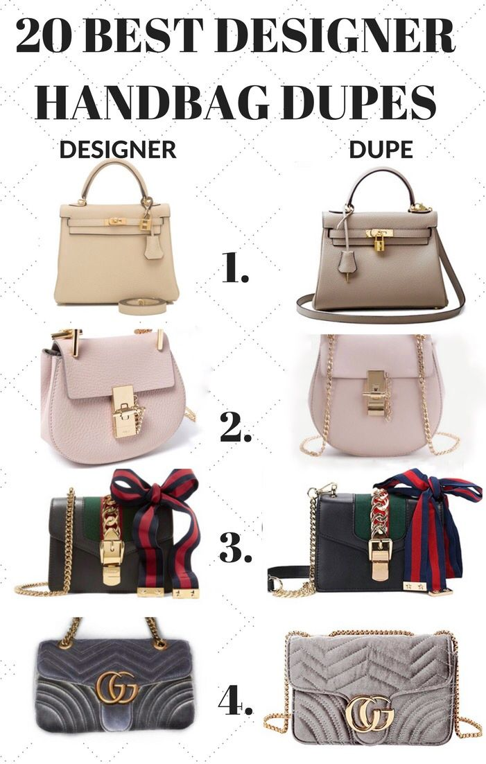 72839f58416 The Best Designer Handbag Dupe Guide! All the designer bag dupes that you  need including Chloe handbag dupes, Gucci hanbag dupes and many many more!