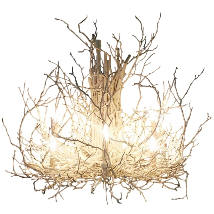 White Hickory Branch Chandelier $2,400.00