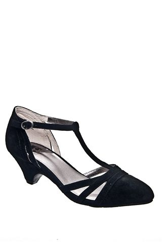 Cool as a Cucumber Casual Low Heel Shoe - Black