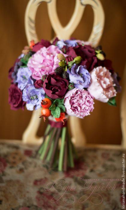 Букет невесты Осенний. Handmade.