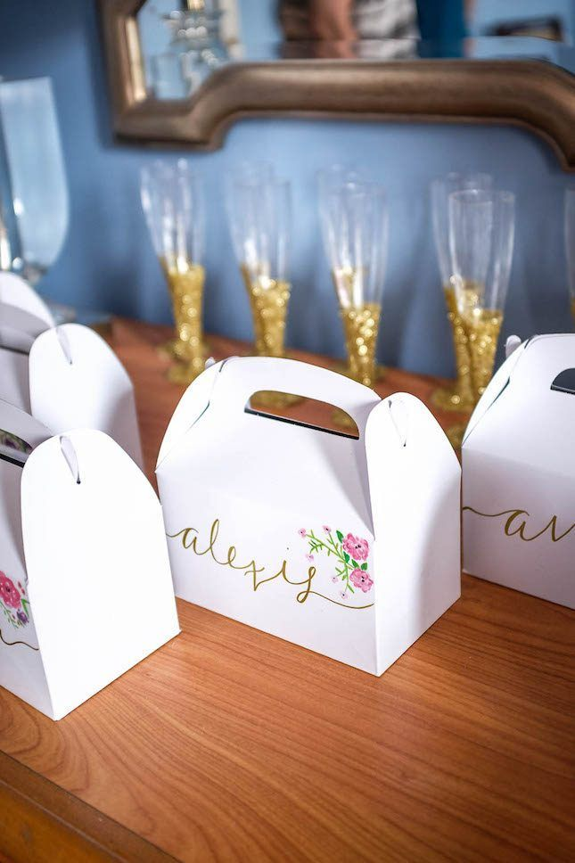 This DIY hangover box idea is so cute as a bachelorette party favor.