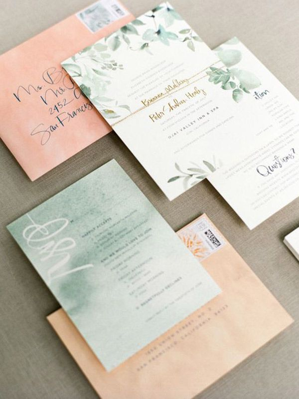 white and gold wedding invitations%0A Green Wedding Invitation     Click the image for more details