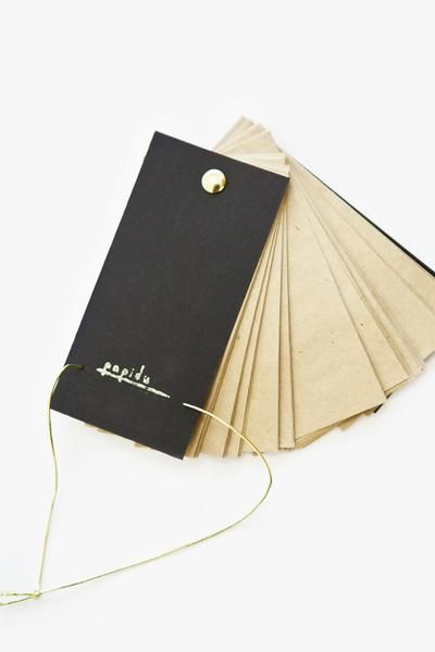 Notebook CHOCOLATE / Czech handmade notebook from recycled material #handmade #paper #stationery #papidu