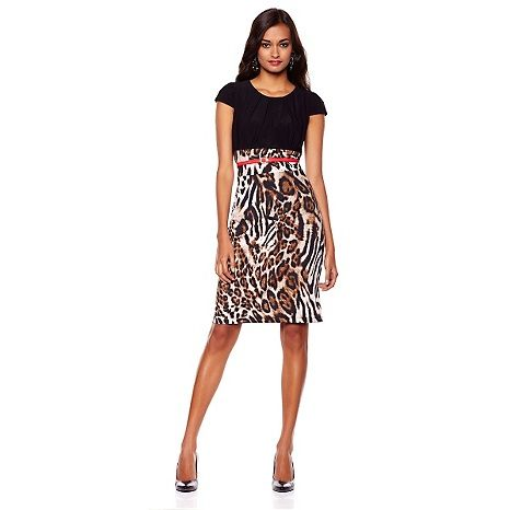"Tiana B. ""It's a Twofer"" Dress with Belt HSN Clearance"
