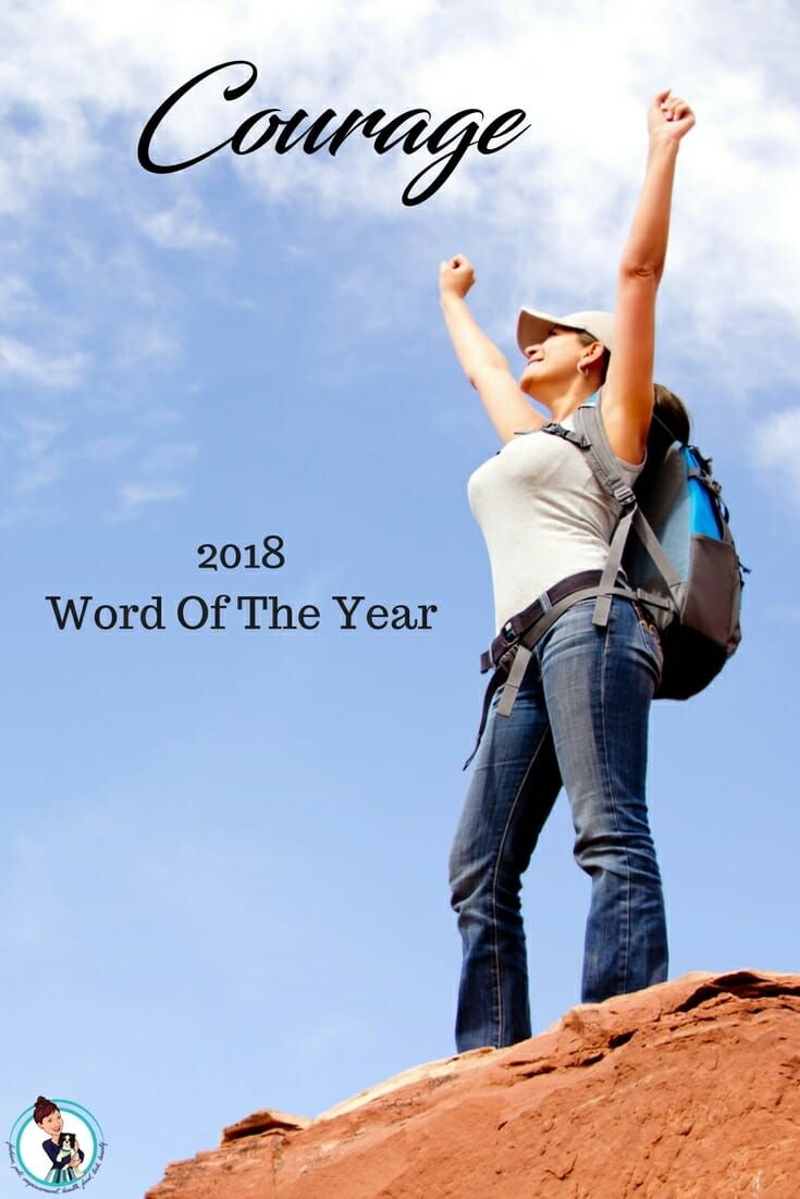 Courage: 2018 Word Of The Year Why I Selected Courage To Be My Word Of The Year This Year. Having a word of the year can help us in many ways. It can support us emotionally, keep us on track, and guide us. #courage #wordoftheyear #empowerment #empower via @FashionBeyond40