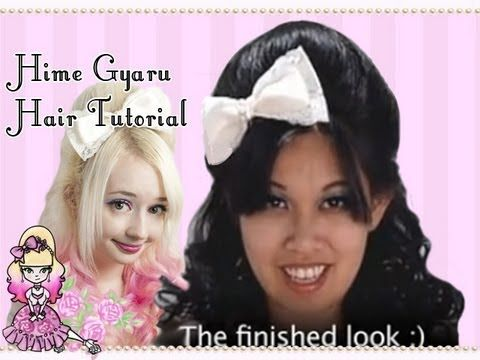 Simple Hime Pouf Hair Tutorial with Celeste / 姫ギャル 髪型チュートリアル - Violet LeBeaux - YouTube