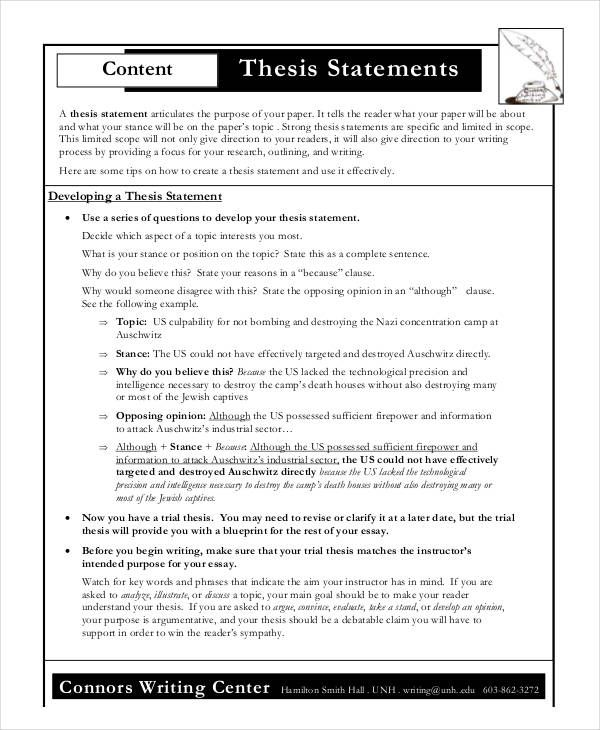 Thesi Statement Template 11 Free M Word Excel Pdf Examples Information Technology Dissertation