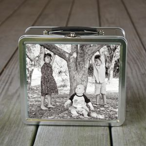 {personalized lunch box with chalkboard inside} - Micah needs one of these! (And maybe me, haha.)