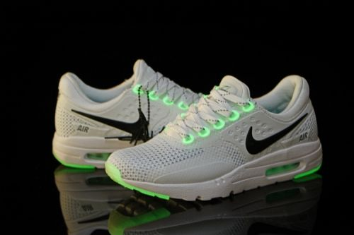 brand new 27a2e 395c2 Men Nike Air Max Zero White Black Green Glow in The Dark ...