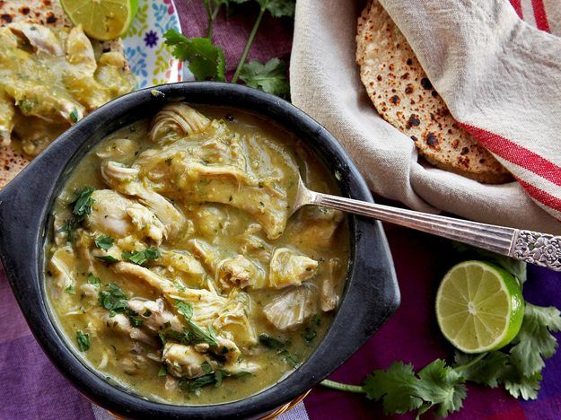 This green chile is packed with moist, tender chunks of braised chicken thighs in a balanced sauce that is rich with umami depth and green chili flavor, but still plenty bright and fresh. And the best part: You can make it in under half an hour. All it takes is a pressure cooker and some dumping skills.