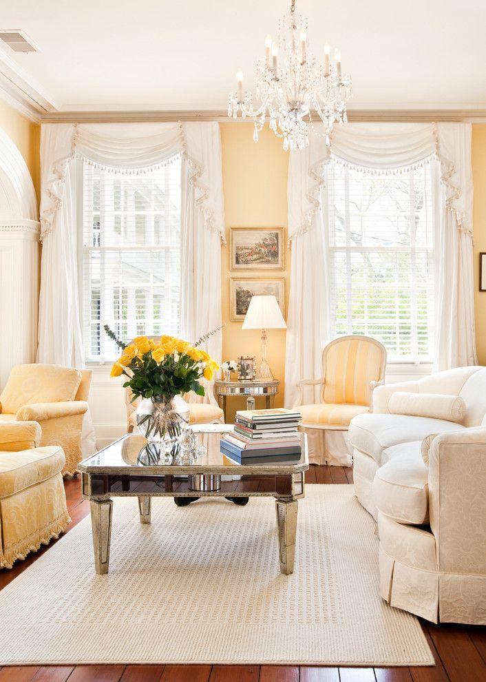 mw hunter design yellow living room pastel pale decorating chandelier