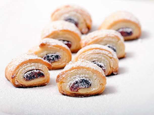 Red bean rugelach. Note: Sweet red bean (adzuki) paste is widely available from either a can or in a bag, the latter in the refrigerated section of your typical Chinese grocery store. I've had much better luck with good flavor and consistency from the bagged product.